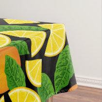 Orange Background Tablecloth