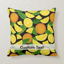 Orange Background Throw Pillow