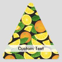 Orange Background Triangle Sticker