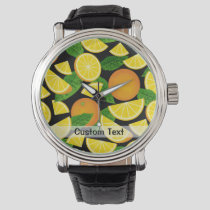 Orange Background Watch