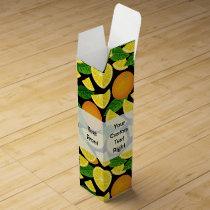 Orange Background Wine Box