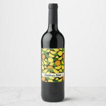 Orange Background Wine Label