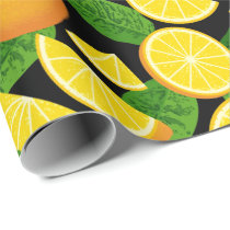 Orange Background Wrapping Paper