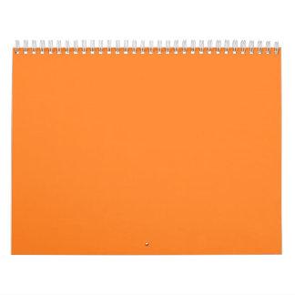 Orange Backgrounds on a Calendar