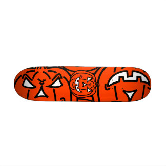 Orange Bad Pumpkin for Halloween Skate Deck