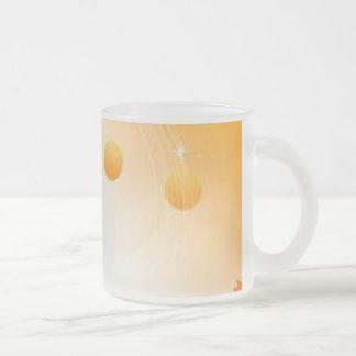 orange ball pattern mug