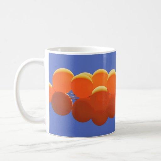 Orange balloons cup mug