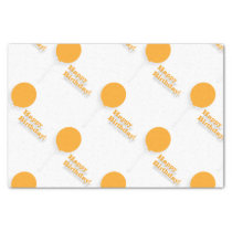 Orange Balloons Tissue Paper