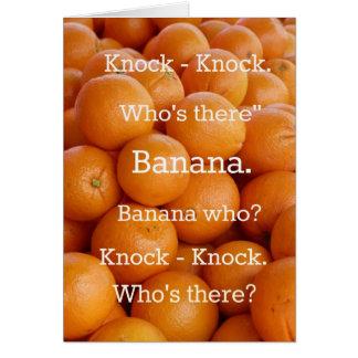 Orange Banana Knock-knock Joke Greeting Card