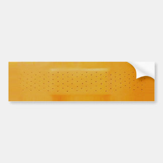 Orange Band-Aid Bumper Sticker