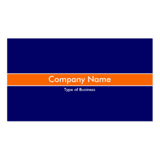 Orange Band - Dark Blue Double-Sided Standard Business Cards (Pack Of 100)