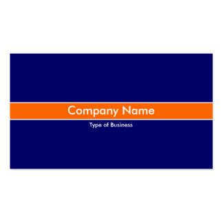 Orange Band - Dark Blue Business Card