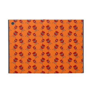 Orange barbeque pattern iPad mini covers