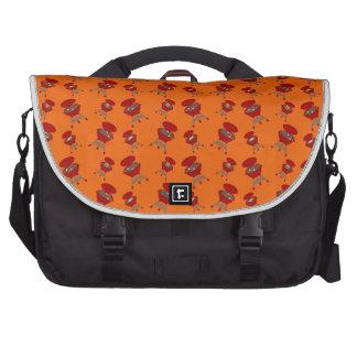 Orange barbeque pattern computer bag