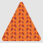 Orange barbeque pattern triangle stickers