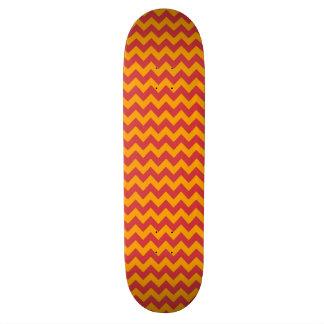 Orange Barn Chevron Zigzag Pattern Skateboard Deck