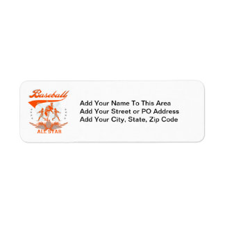 Orange Baseball All Star T-shirts and Gifts Label