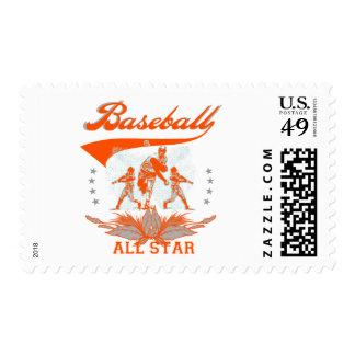 Orange Baseball All Star Tshirts and Gifts Postage