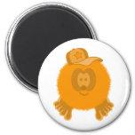 Orange Baseball Cap Magnet