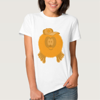 Orange Baseball Cap Pom Pom Pal T-shirt