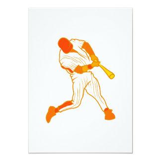 Orange baseball logo card