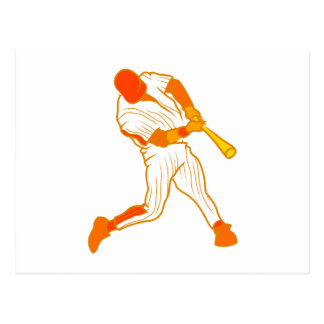 Orange baseball logo postcard