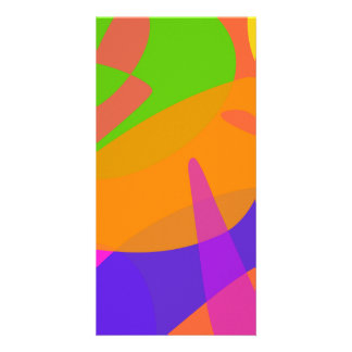 Orange Based Abstract Art Customized Photo Card