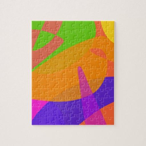 Orange Based Abstract Art Jigsaw Puzzles