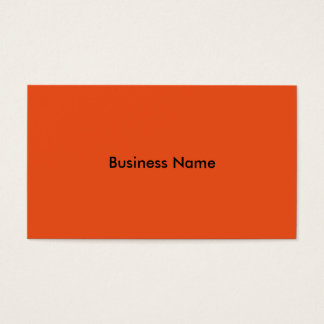 Orange basic business cards