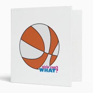 Orange Basketball 3 Ring Binder