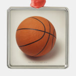 Orange basketball, close-up christmas ornaments