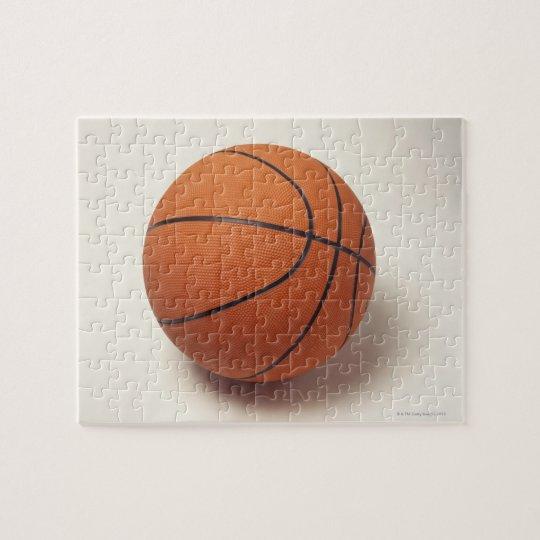Orange basketball, close-up jigsaw puzzle