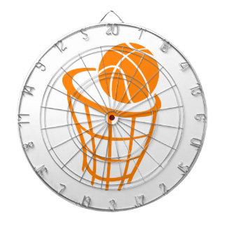 Orange Basketball Dartboard