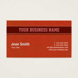 Orange Basketball Leather Texture business card