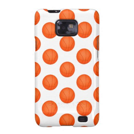 Orange Basketball Pattern Galaxy SII Covers