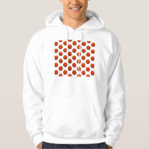 Orange Basketball Pattern Hoodie