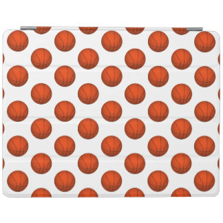 Orange Basketball Pattern iPad Cover