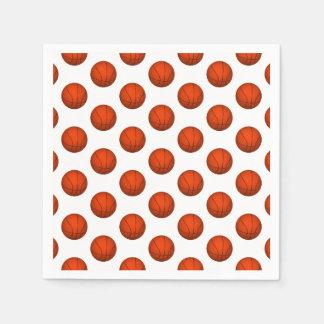 Orange Basketball Pattern Paper Napkin