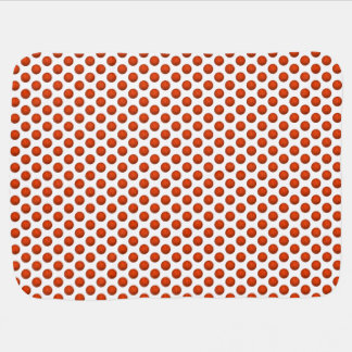 Orange Basketball Pattern Stroller Blanket