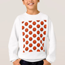 Orange Basketball Pattern Sweatshirt