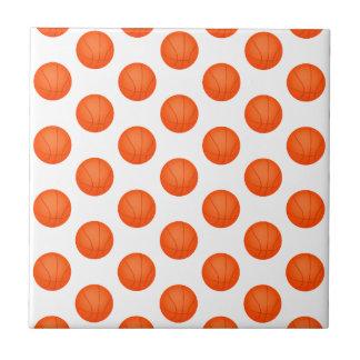 Orange Basketball Pattern Tile