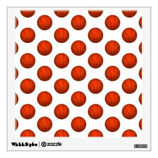 Orange Basketball Pattern Wall Sticker