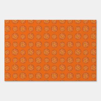 Orange basketball pattern yard sign