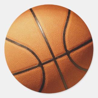 Orange_Basketball, _ Pegatina Redonda