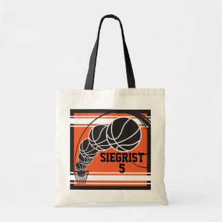 Orange Basketball | Personalize Tote Bag