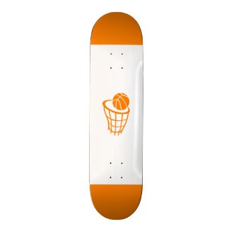 Orange Basketball Skateboard