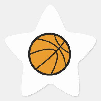 Orange Basketball Star Sticker