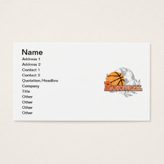 Orange Basketball T-shirts and Gifts Business Card