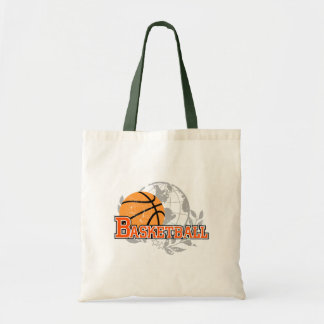 Orange Basketball T-shirts and Gifts Tote Bag