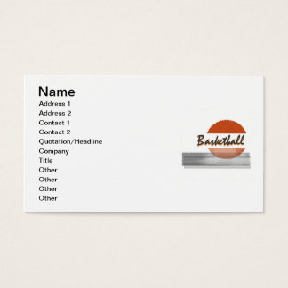 Orange Basketball Tshirts and Gifts Business Card